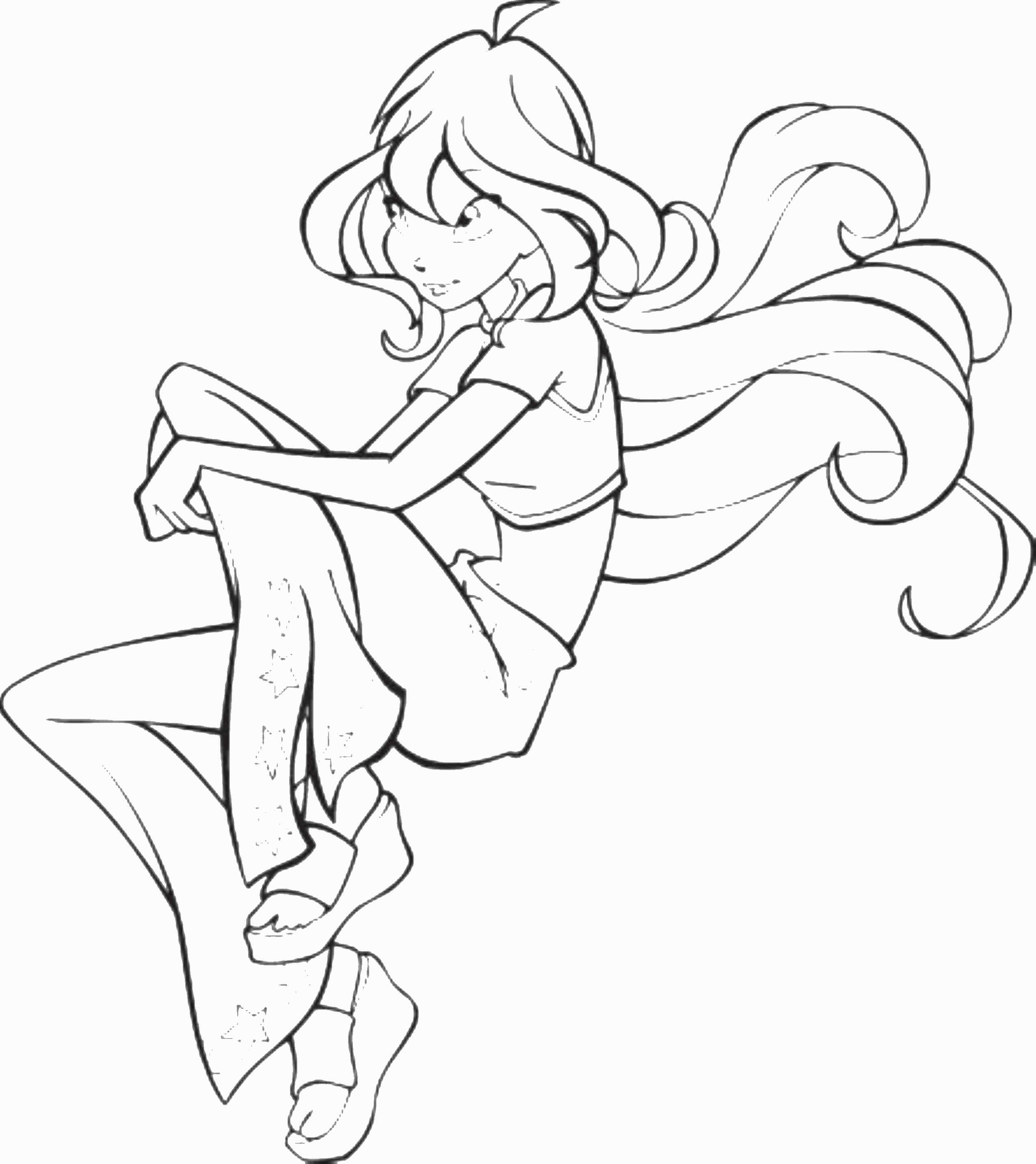2551x2866 Winx Club Bloom Coloring Pages