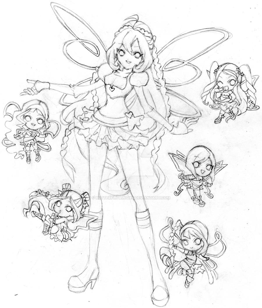 900x1058 Bloom Winx Club Chibi Believix By Butterflywingies
