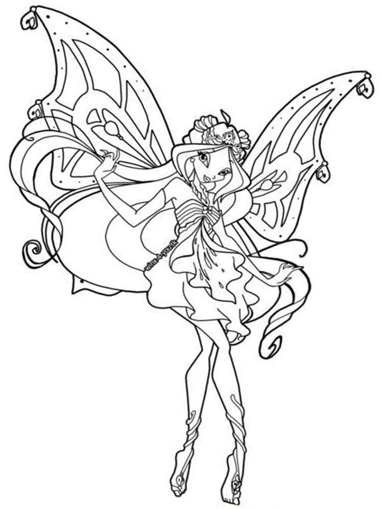 768x1024 Winx Club Coloring Pages