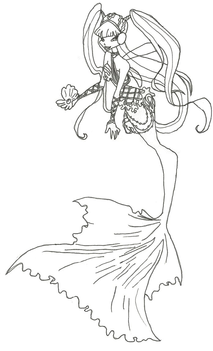697x1147 Winx Club Mermaid Musa Coloring Page By Winxmagic237 On DeviantArt