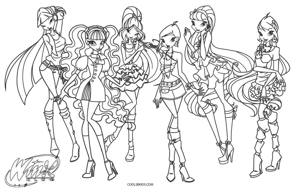 1150x739 Free Printable Winx Coloring Pages For Kids Cool2bKids
