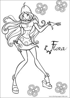 Winx Club Flora Drawing