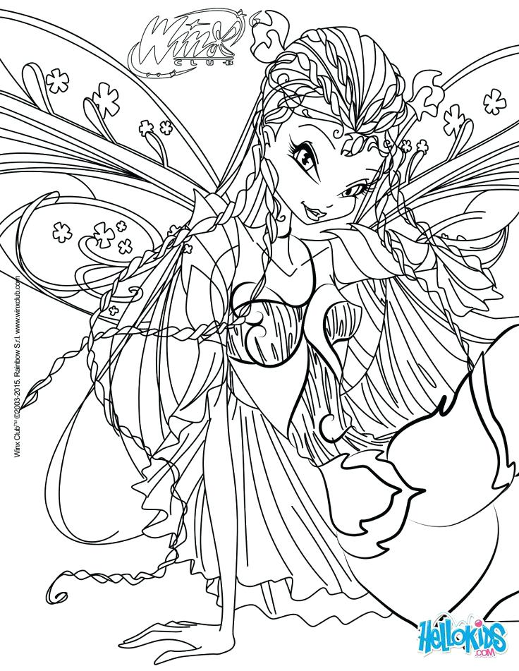 736x951 Winx Club Coloring Pages Sirenix Flora To Your Collection