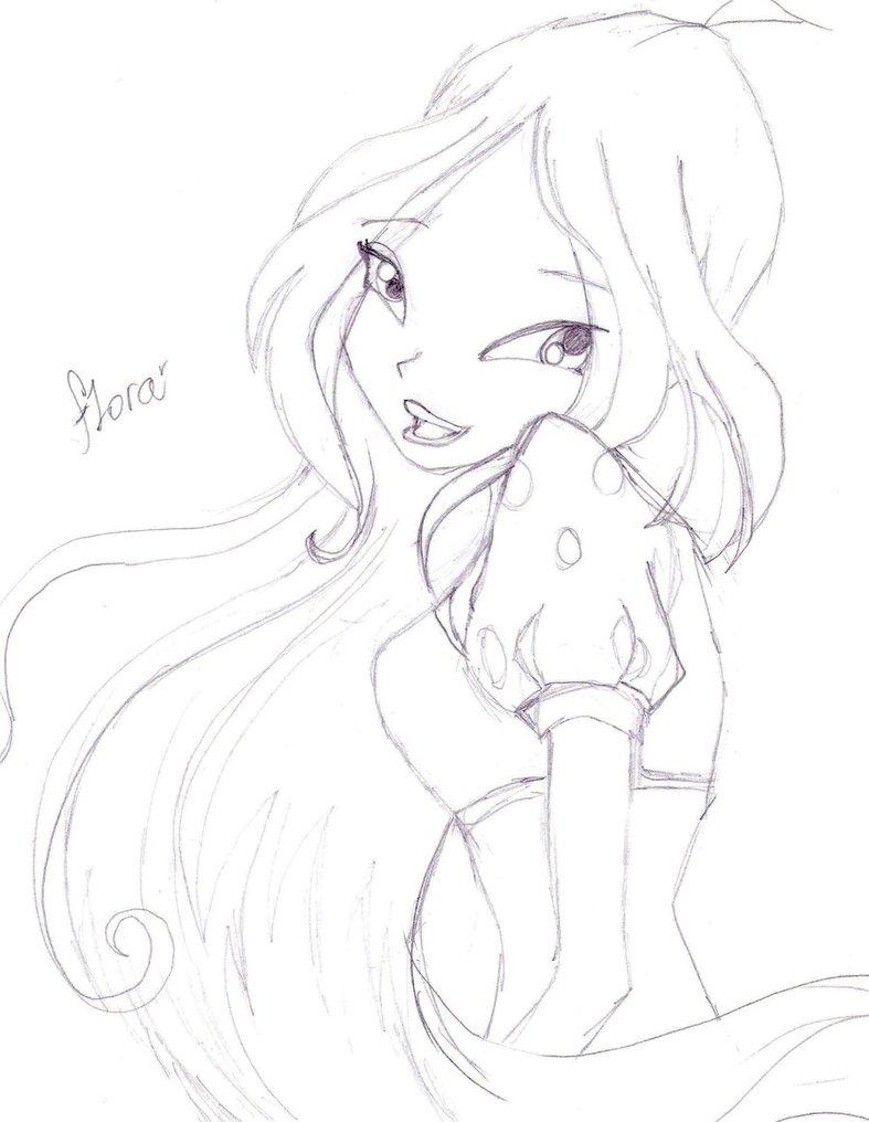 787x1016 Flora Sketch By Bloomsbox