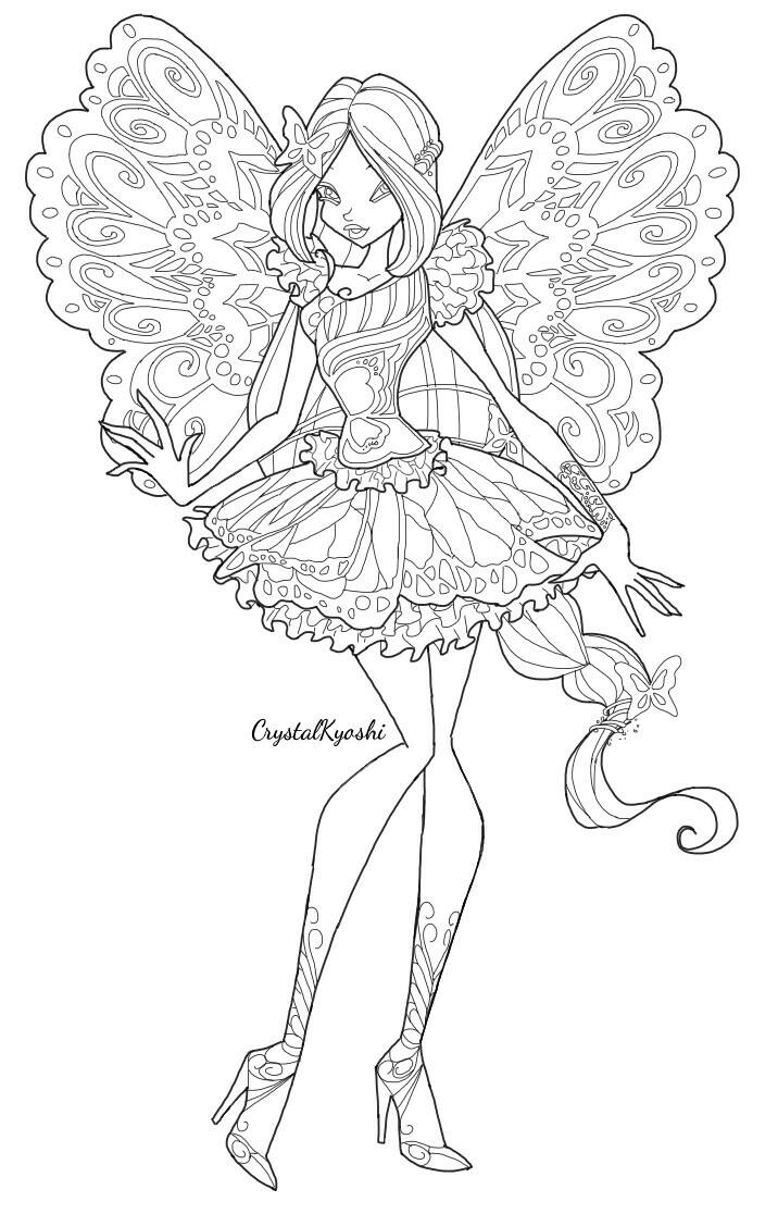716x1116 Flora Butterflix Lineart By Crystalkyoshi