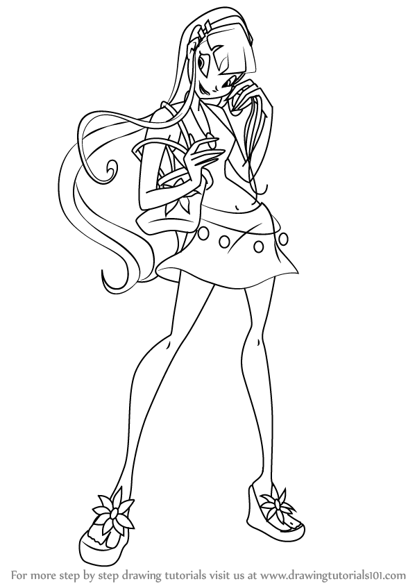 598x844 Learn How To Draw Stella From Winx Club (Winx Club) Step By Step