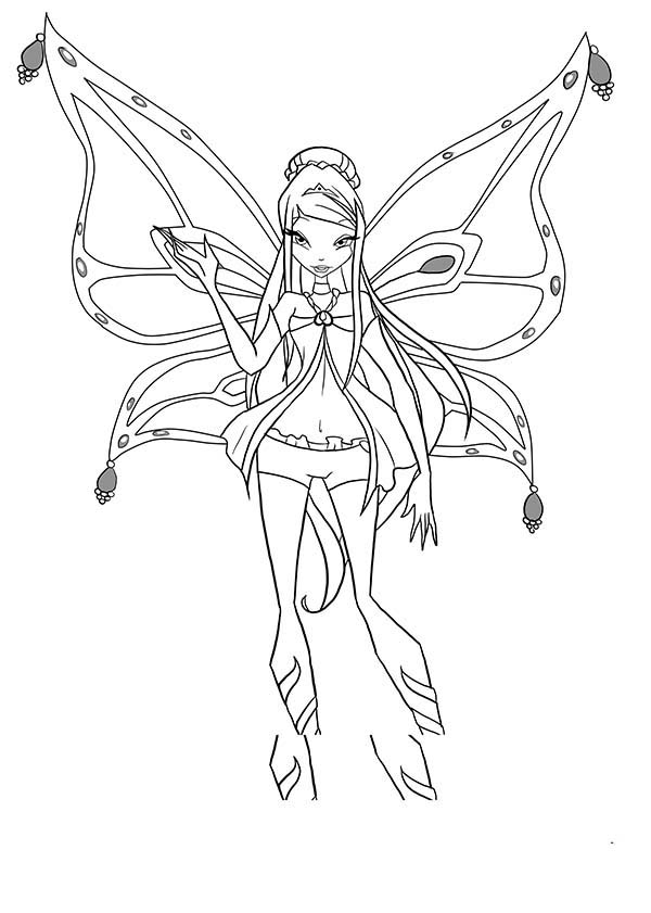 600x841 Roxy Enchantix Winx Club Coloring Pages Batch Coloring