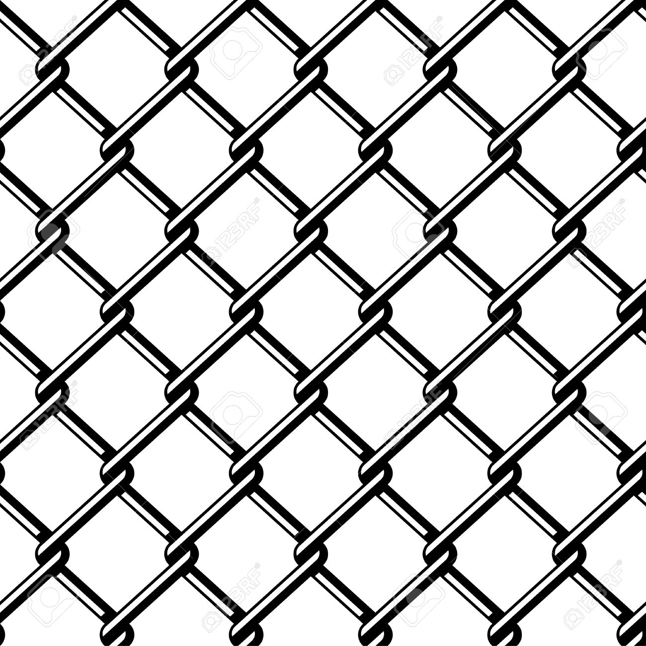 1300x1300 Vector Wire Fence Seamless Black Silhouette Royalty Free Cliparts
