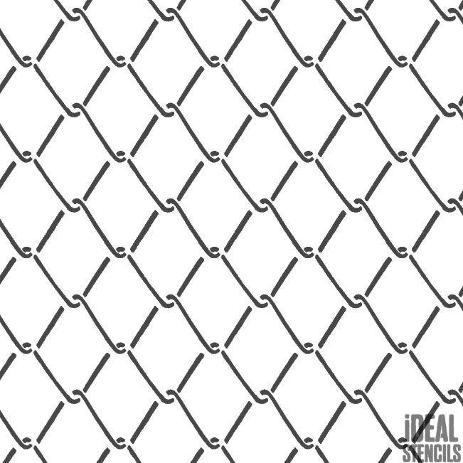 651x651 Wire Fence Pattern Stencil