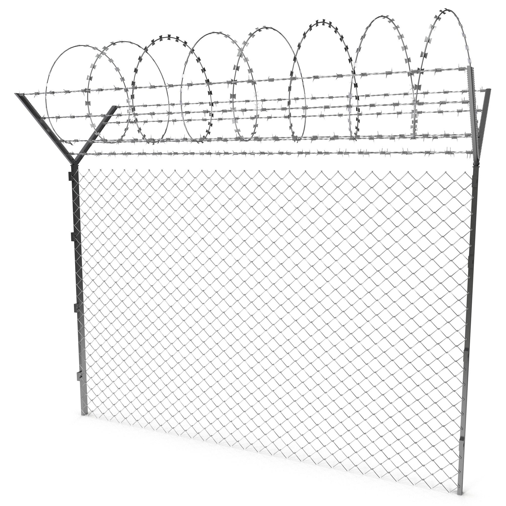 2048x2048 Barbed Wire Fence Decor References