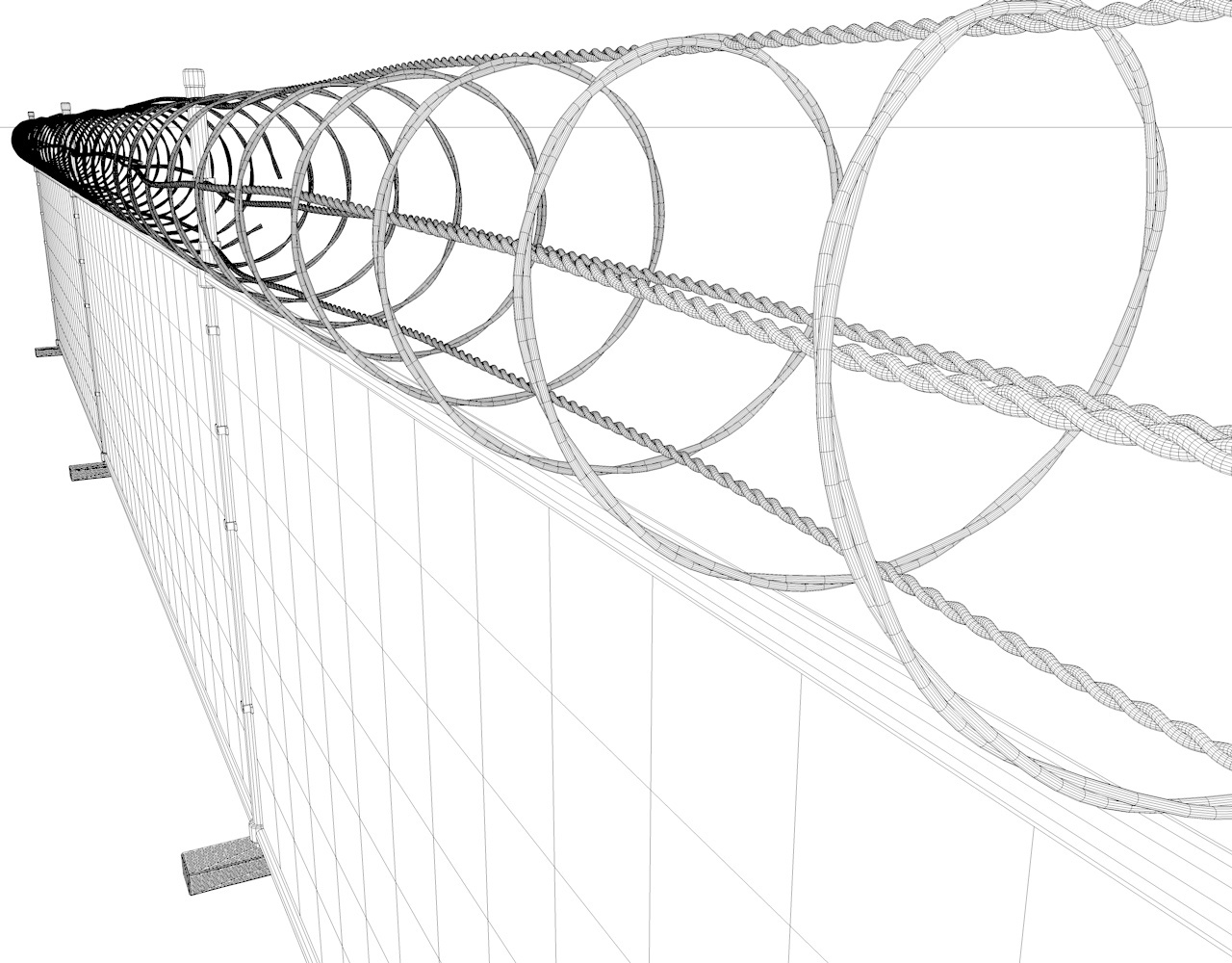 1280x1000 Barbed Wire Fence By Remmac 3docean