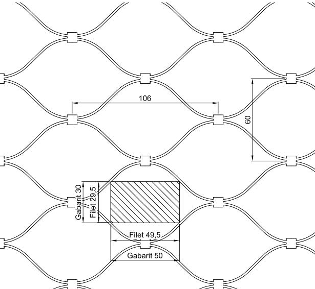 615x566 Rope Zoo Wire Mesh , Stainless Steel Animal Enclosure Netting Ce