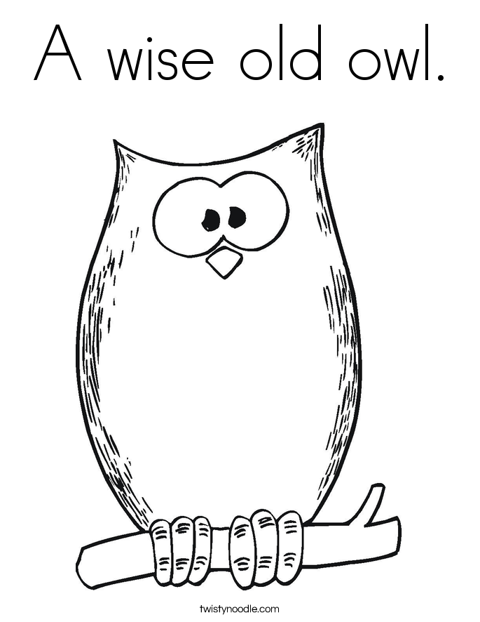 685x886 A Wise Old Owl Coloring Page