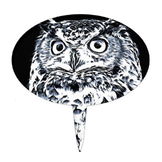 324x324 Wise Owl Cake Toppers Zazzle