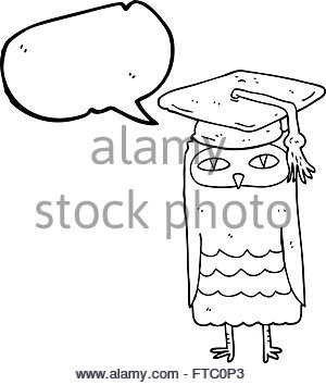 300x354 Freehand Drawn Cartoon Wise Owl Stock Vector Art Amp Illustration