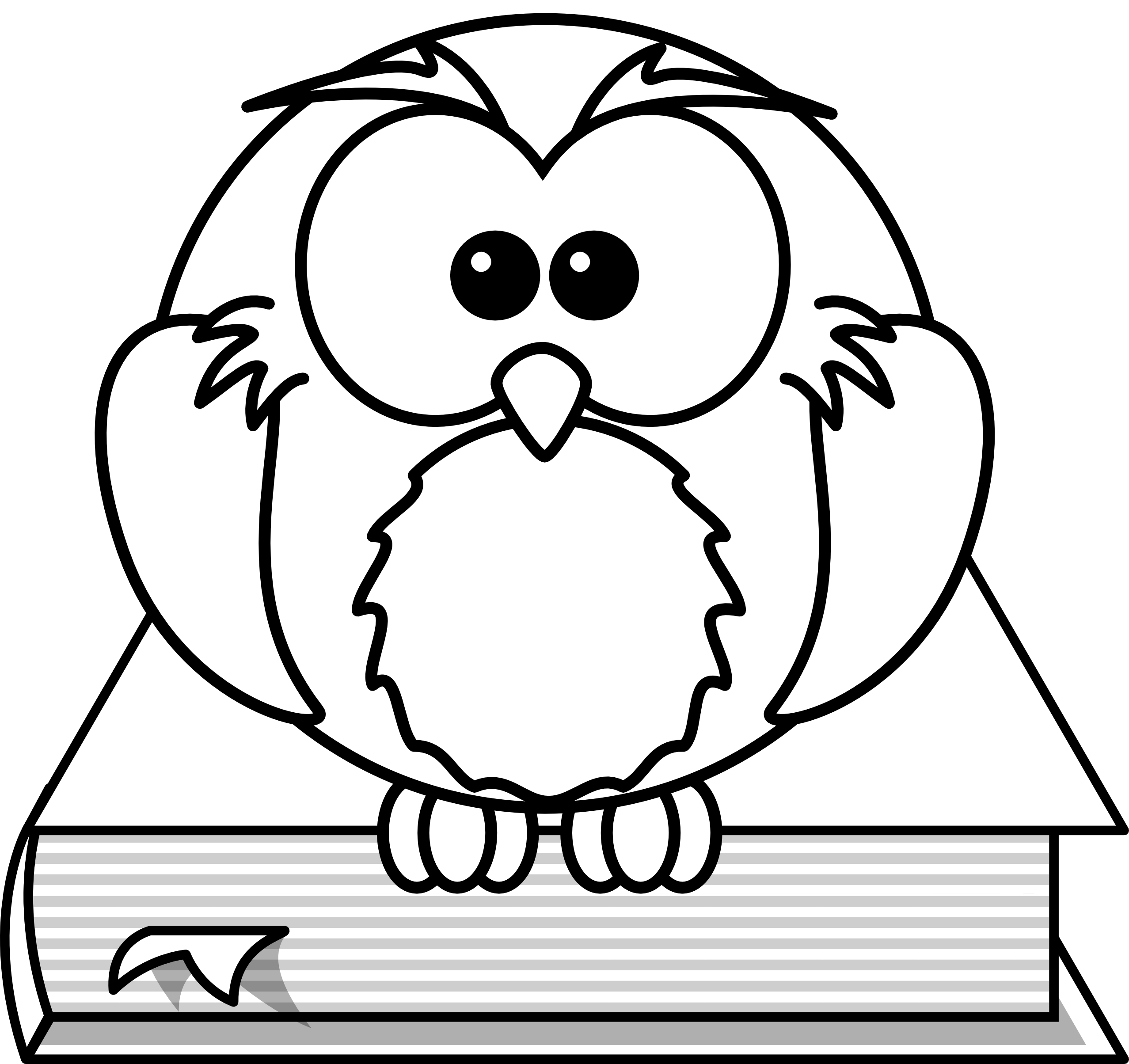 2555x2408 How To Draw A Wise Owl