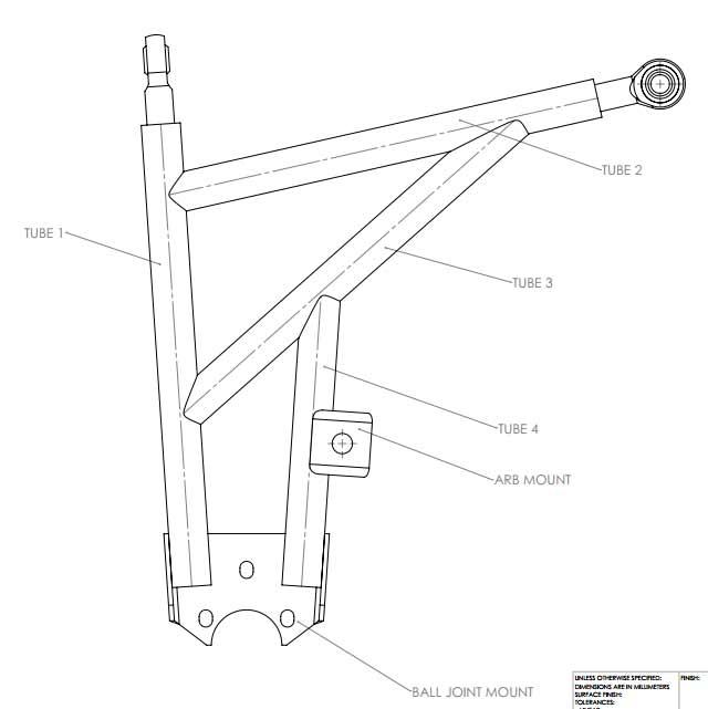 640x641 Mk2 Tubular Front Wishbones