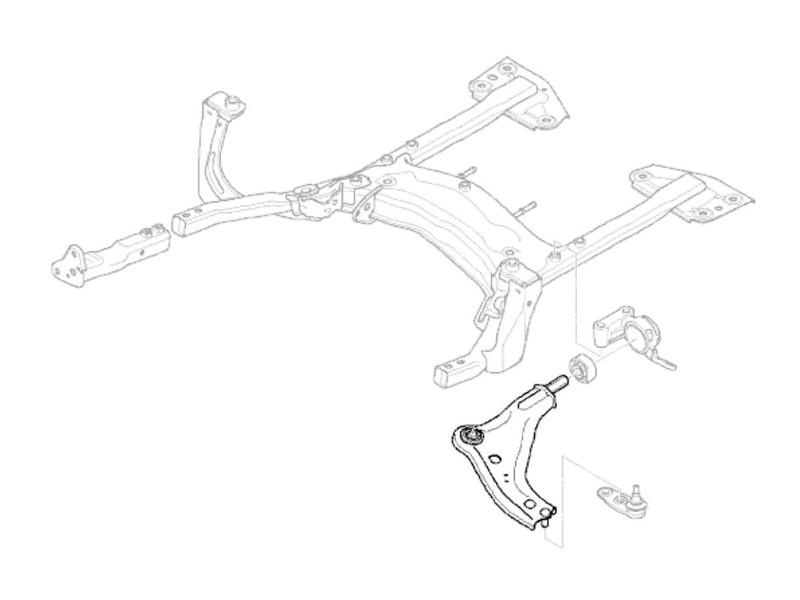 800x600 Mini Cooper Front Wishbone Oem Gen2 R55 R56 R57 R5