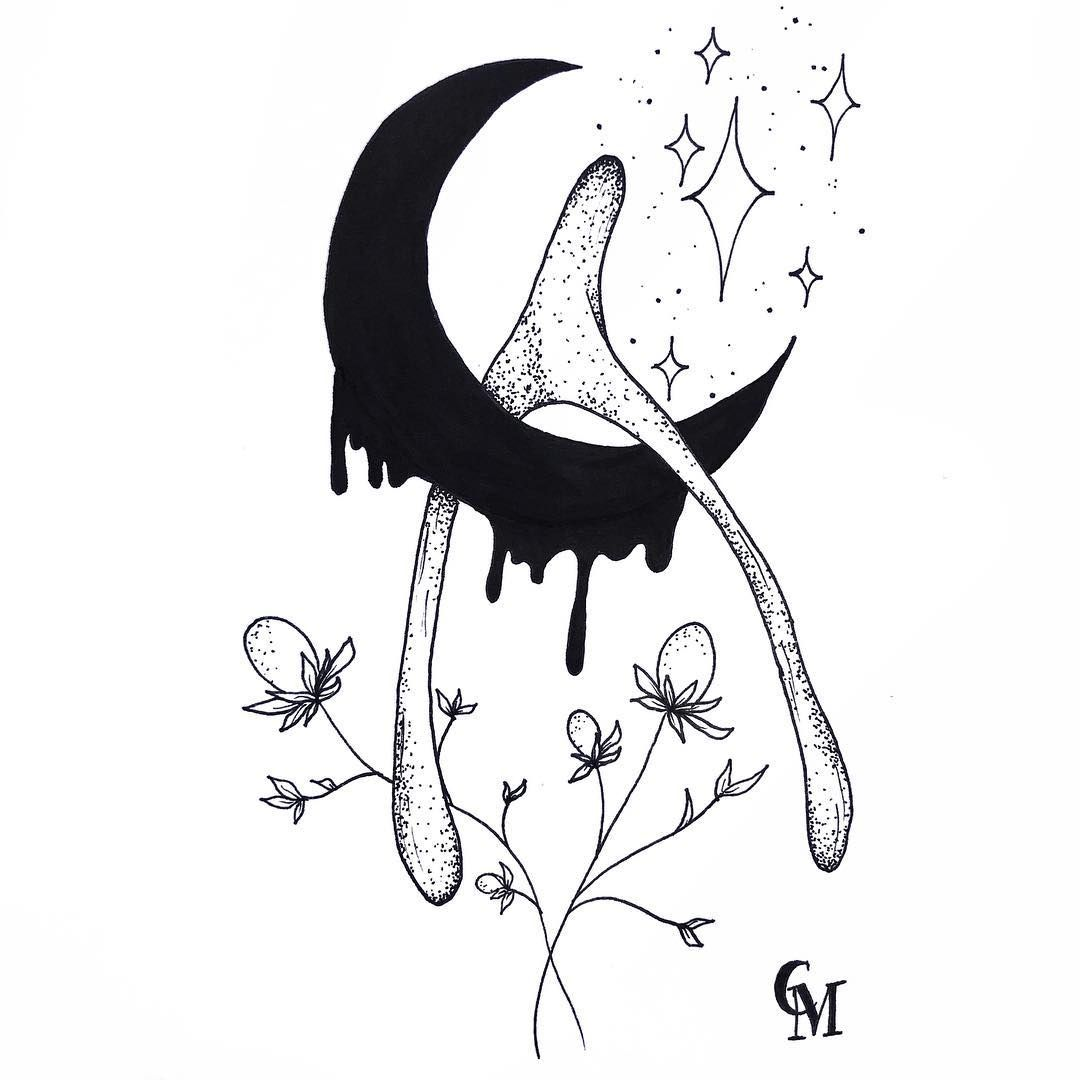 1080x1080 Moon Wishbone Illustration Tattoo Design By Carli Mcmartin Www