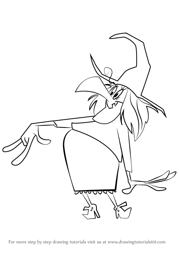 593x842 Learn How To Draw Witch Lezah From Looney Tunes (Looney Tunes