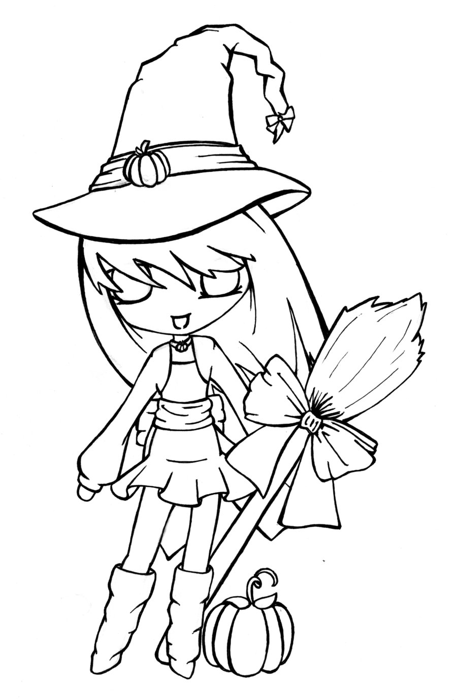 900x1378 Anime Witch Drawing Anime Witch Drawing How To Draw An Anime Witch