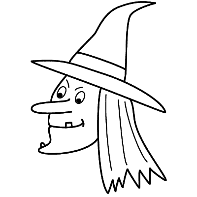 400x400 Witch Drawings For Halloween Fun For Christmas