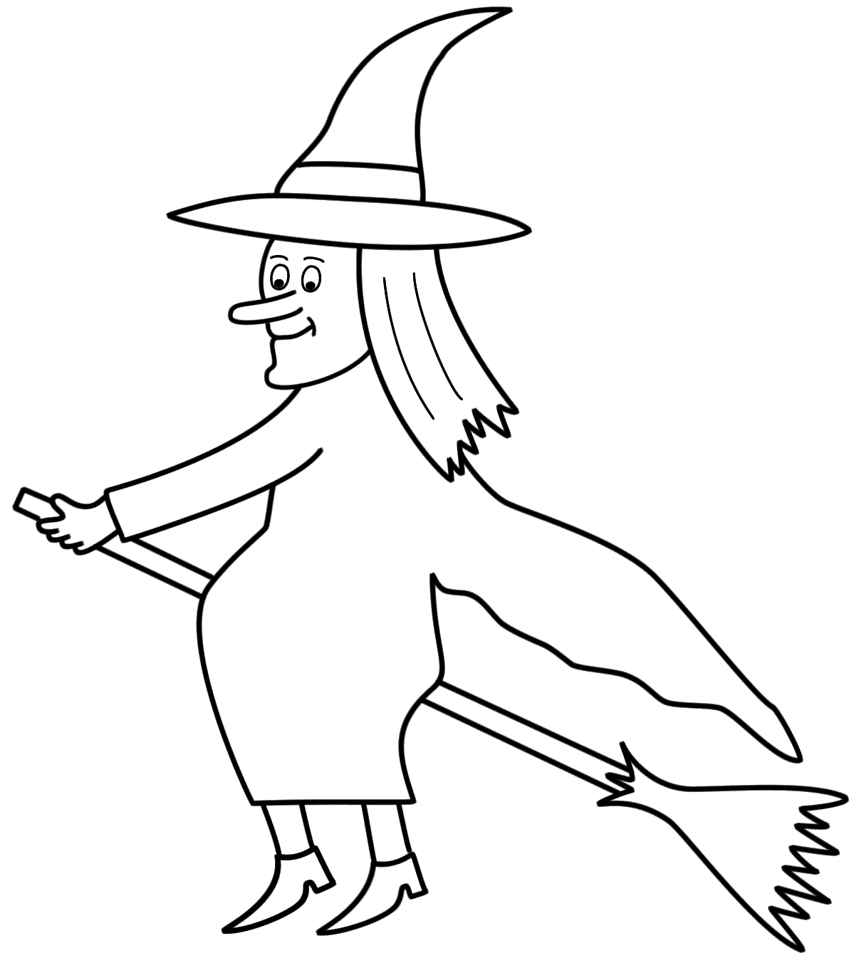 1199x1352 How To Draw Halloween Witches Step By And Colouring Pages For