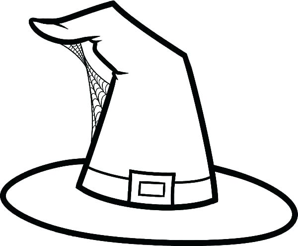 600x494 Witch Hat Coloring Book Witch Hat Drawing