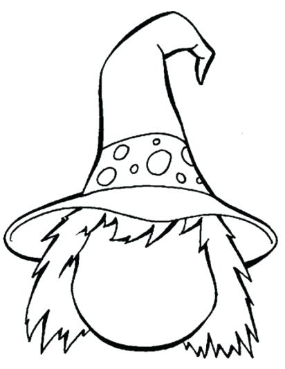 412x534 Witch Hat Coloring Page Hat Witch Hat Coloring Pages Print