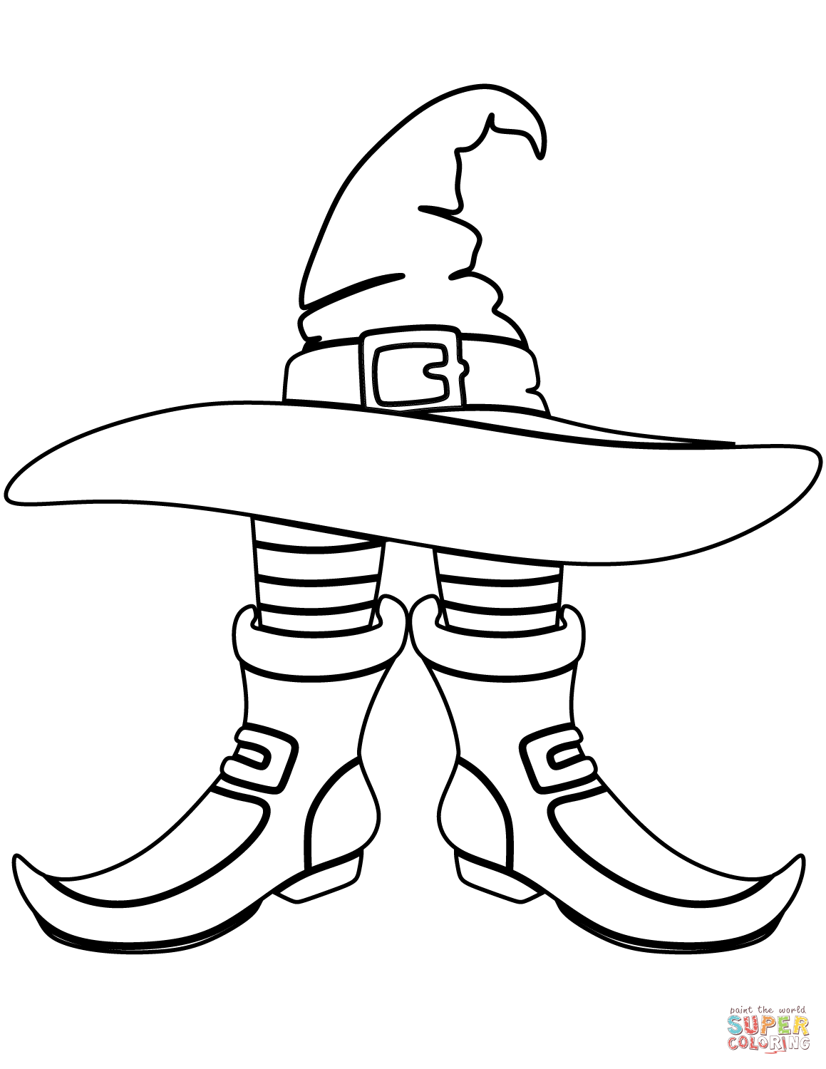 graphic about Witches Hat Template Printable identify Witch Hat Drawing at  Cost-free for person seek the services of