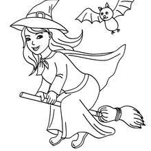 220x220 Witch Coloring Pages