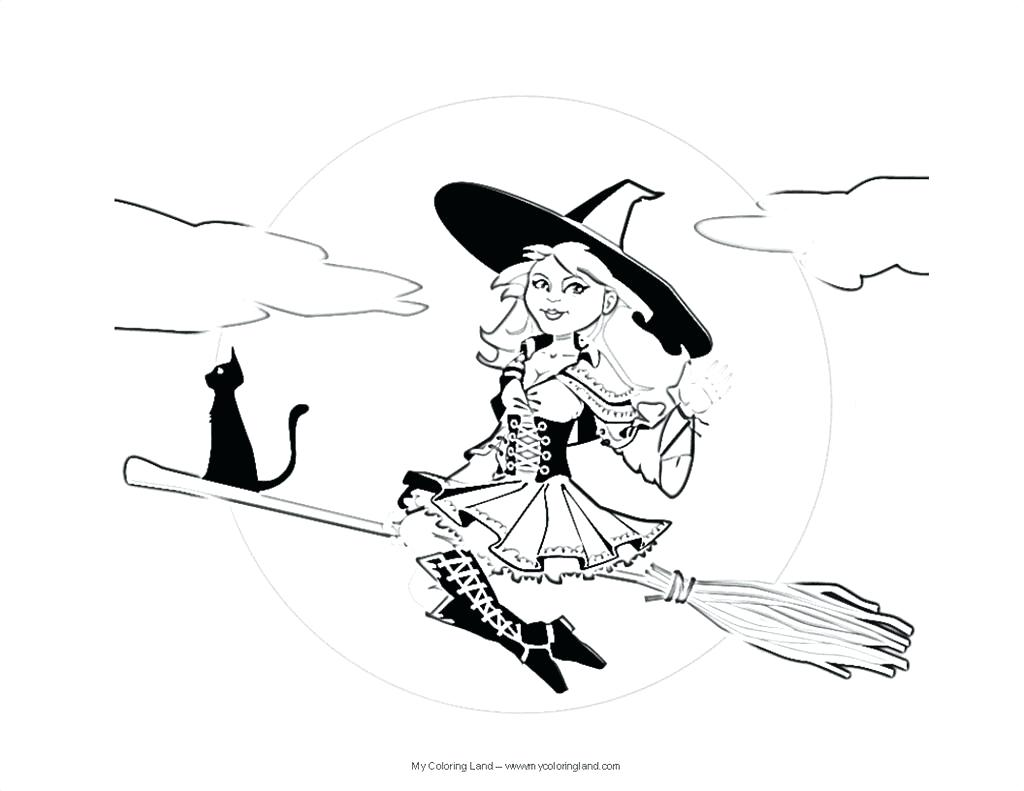 1024x791 Coloring Coloring Page Witch Best Pages Wallpapers On A Broom