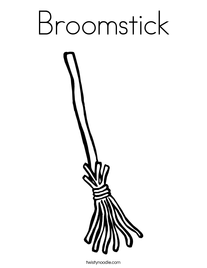 685x886 Broomstick Coloring Page