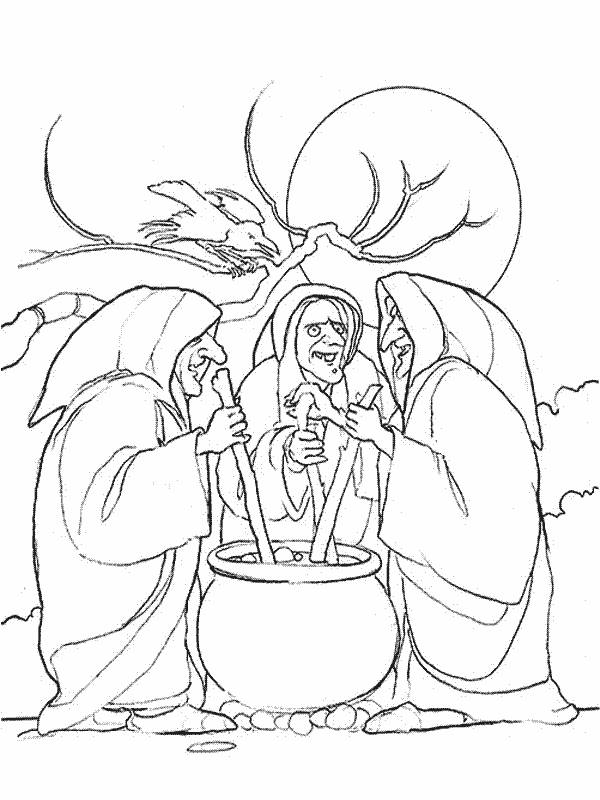 600x800 Coloring Pages Witches