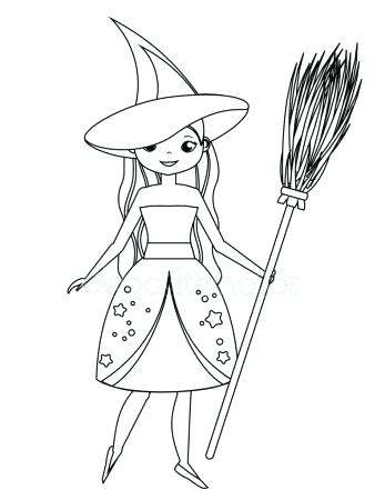 347x450 Cute Witch Coloring Pages Cartoon Witch Coloring Pages To Download