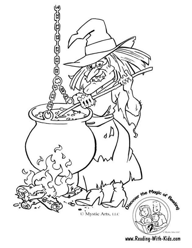 630x815 Scary Witch Drawings Fun For Christmas