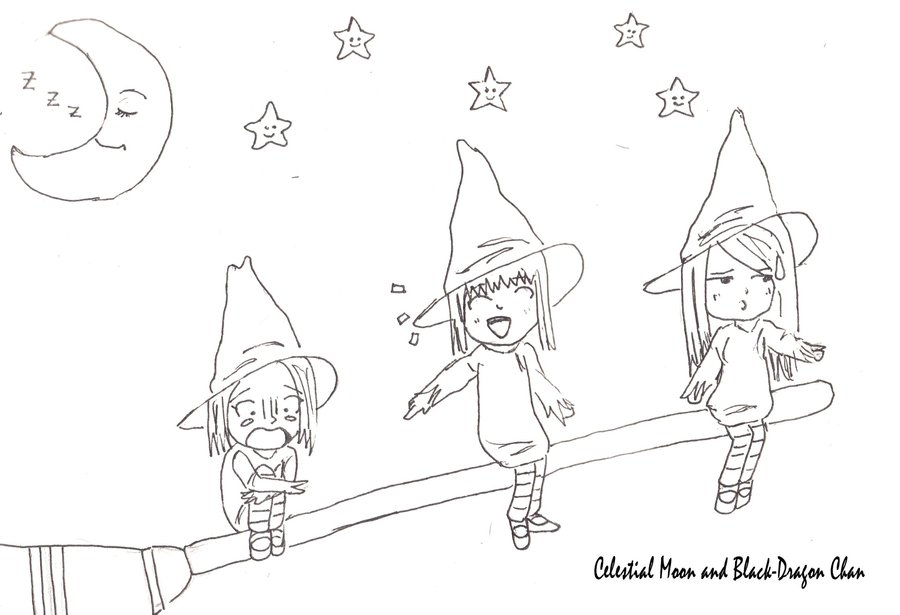 900x615 Three Witches Lineart By Celestialmoon