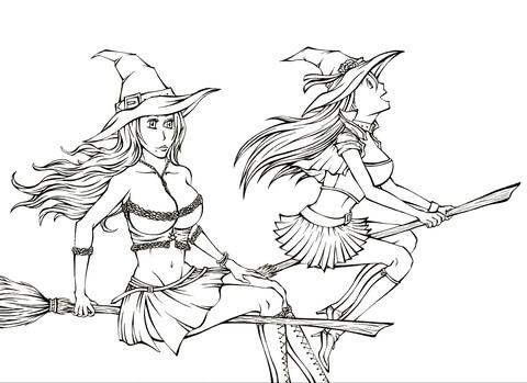 480x349 Witches From Manga Bleach Coloring Page Free Printable Coloring