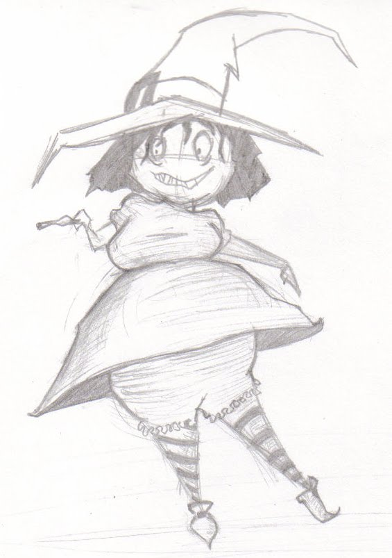 565x803 Witchy Witch Pencil Sketch By Niki Kehoe