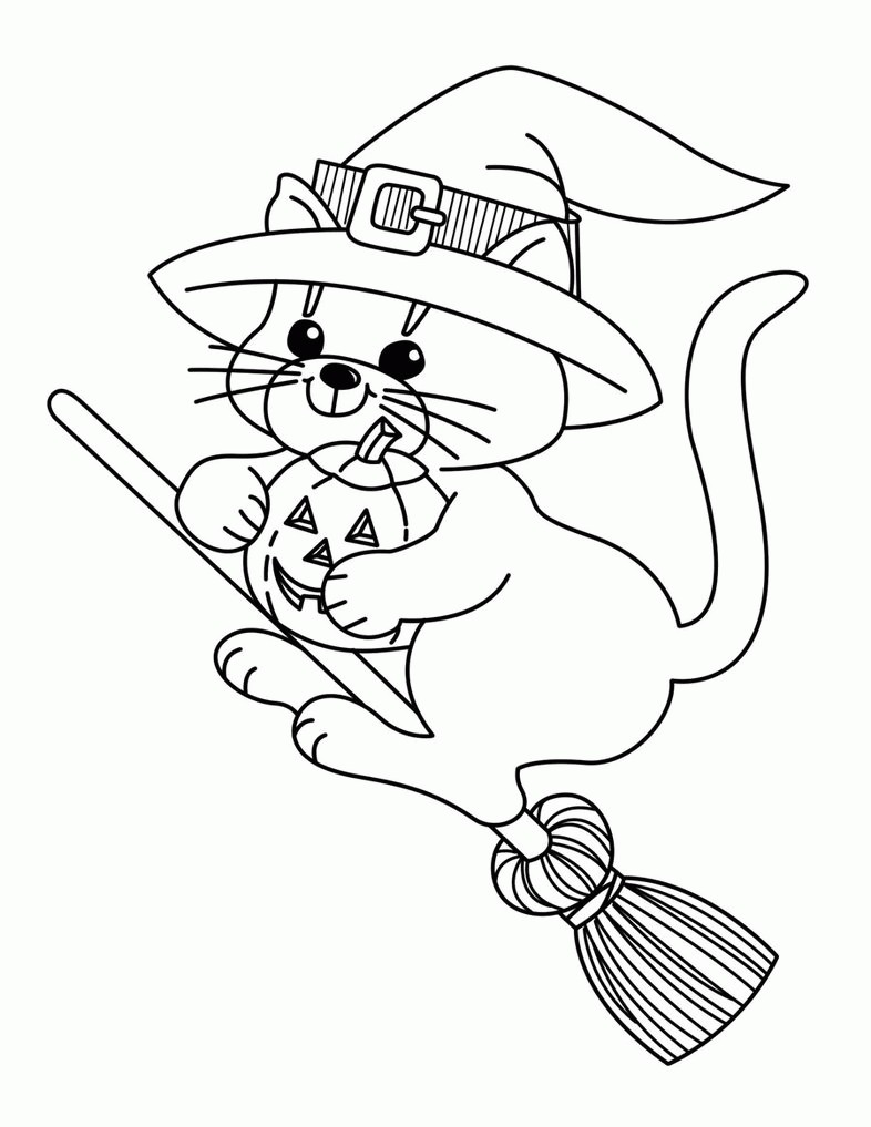 786x1017 Coloring Pages For Witches Best Of Printable Halloween Coloring