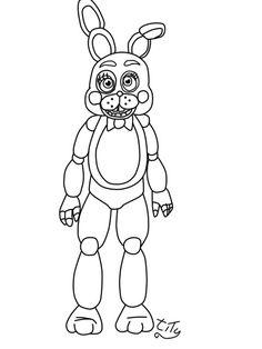 236x314 Bonnie Is An Animated Rabit With Magenta Eyes.bonnie Cartoon Is