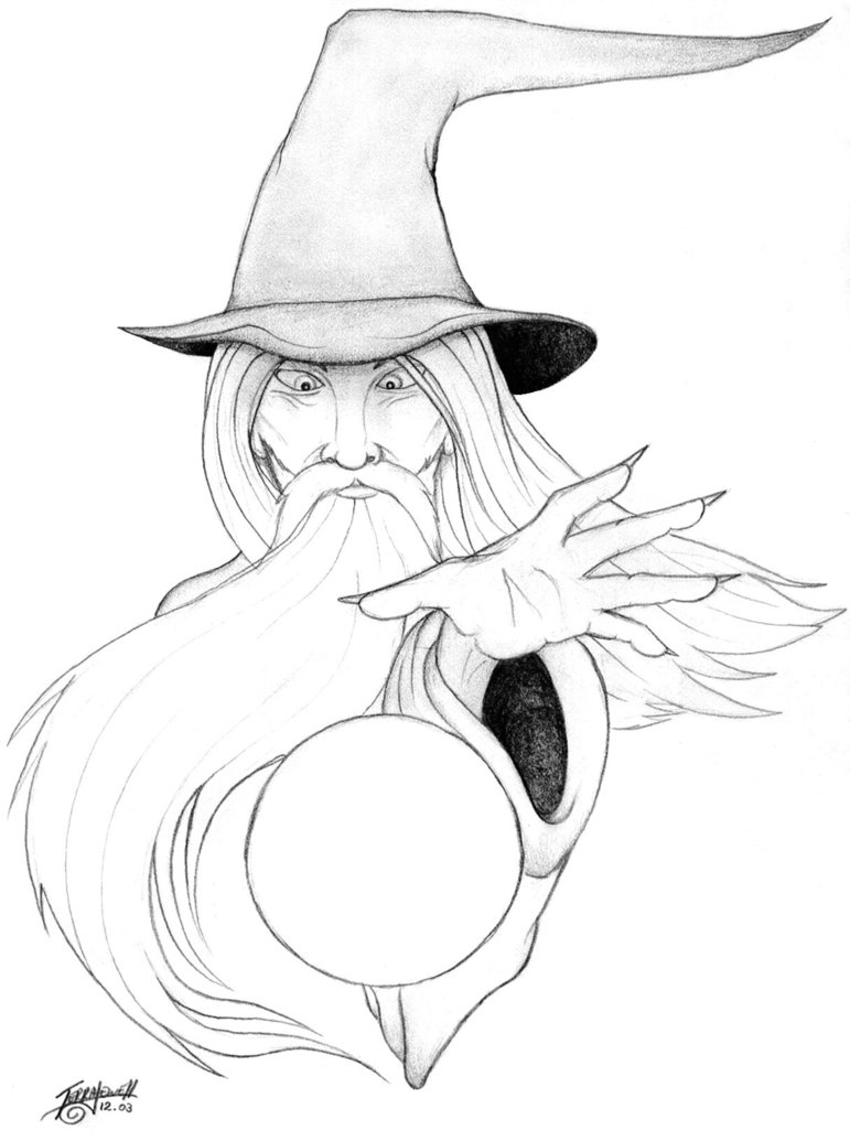 771x1035 Wizard Art Drawing Ideas Image Detail For Wizard Tattoo Design By