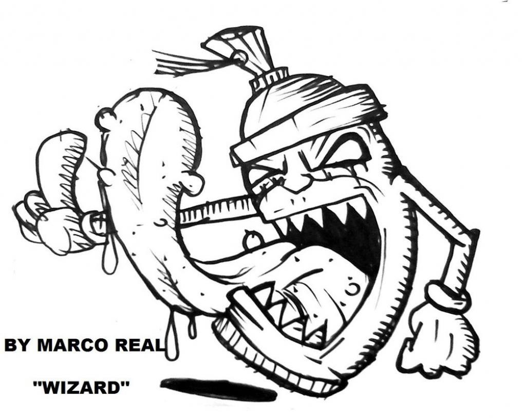 1024x813 Graffiti Art Wizard Graffiti Monsterwizard Graffiti Wizard Monster