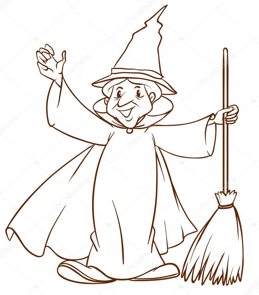 Wizard Hat Drawing