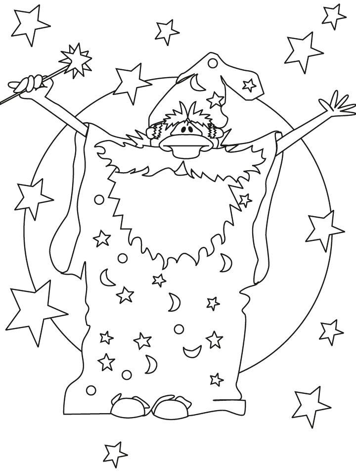720x954 Wizard Coloring Pages Magician Wizard Coloring Pages Wizard Hat