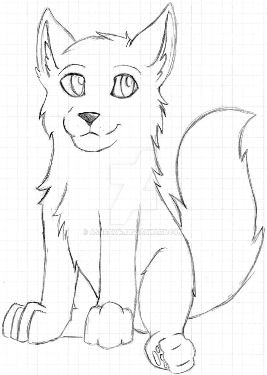 900x1261 Unfinished Wolf Pup By Asarawr