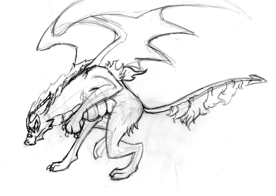900x640 Dragon Wolf Hybrid By Superartninja