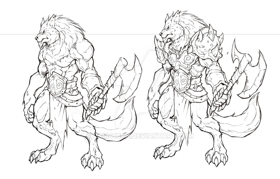 900x577 Night Wolf Character Sketch