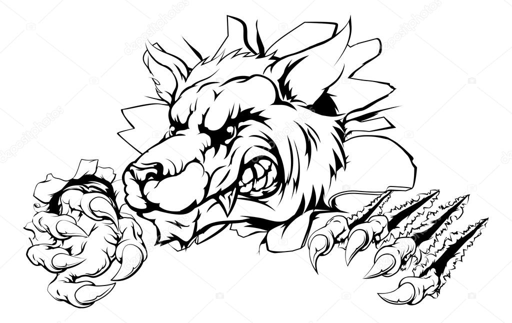 1024x646 Wolf Claw Breakthrough Stock Vector Krisdog