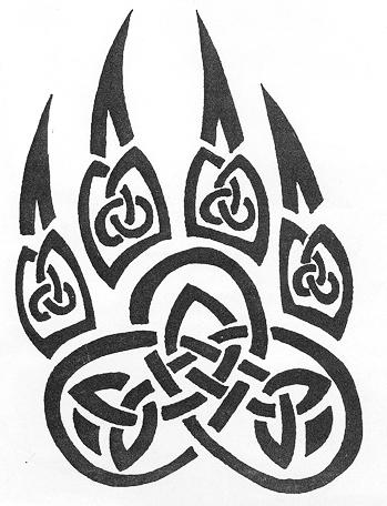 349x456 Celtic Wolf Paw